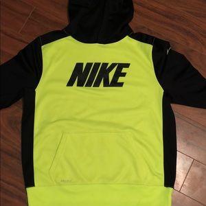 Nike dri-fit neon hoodie
